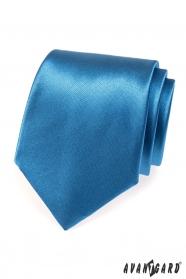 Glänzende blaue Krawatte AVANTGARD