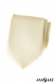 Matte cremig-gelbe Avantgard Krawatte