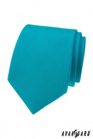 Türkisfarbene, matte Avantgard Krawatte