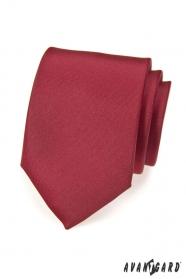 Glatte bordeaux Krawatte matt
