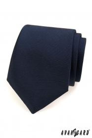 Blaue matte Krawatte für Herren