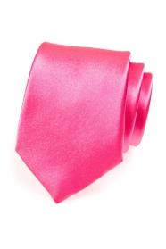 Herren Krawatte expressiv pink
