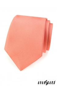 Einfarbige lachsfarbene Krawatte