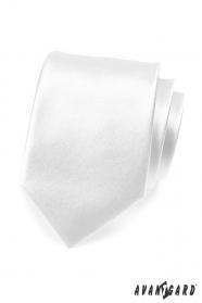 Glatte weiße Herren Krawatte