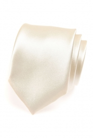 Glänzende cremefarbene Krawatte