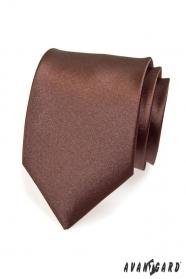 Braune glatte Krawatte für Männer