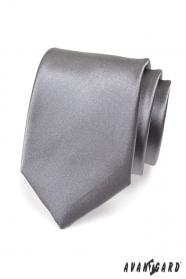 Krawatte für Männer graphit glatt