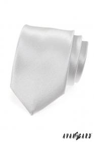 Glatte silberne Krawatte
