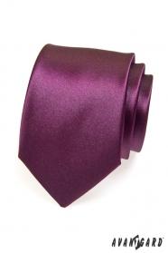 Krawatte für Herren Aubergine