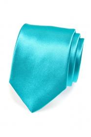 Klasische einfarbige Herren Krawatte in Türkis