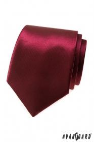 Glänzende einfarbige Krawatte bordeaux