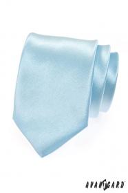 Krawatte hellblau Glanz
