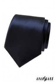 Krawatte für Herren Dunkelblau Glanz