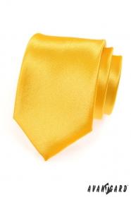 Krawatte Gelb mit Glanz
