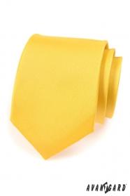 Krawatte AVANTGARD matt gelb