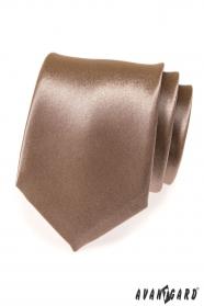 Glänzende braune Krawatte