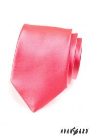 Einfarbige Herren Krawatte Rosa
