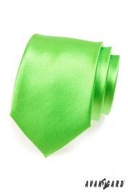 Krawatte mittelgrün Glanz