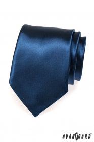 Dunkelblaue glänzende Krawatte