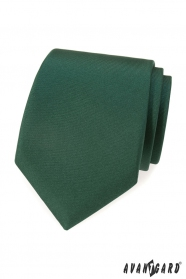 Dunkelgrüne, matte Krawatte