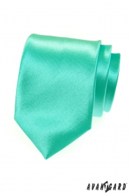Glänzende mintgrüne Krawatte