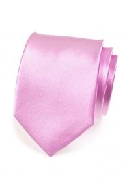 Einfarbige glänzende Lila Krawatte