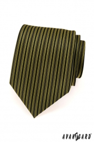 Herren Krawatte grüne und schwarze Streifen