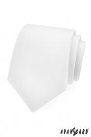 Glatte weiße matte Krawatte
