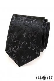 Schwarze Krawatte Zartmuster