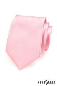 Herren Krawatte Rosa Glanz