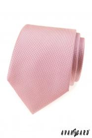 Puderrosa strukturierte Krawatte