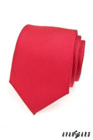 Rote Herren Krawatte mit feiner Struktur