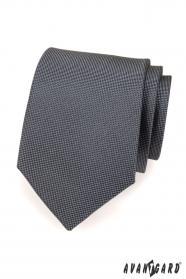 Herren Krawatte Graphit zart kariert