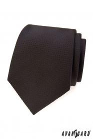 Braune Krawatte mit gepunkteter Struktur