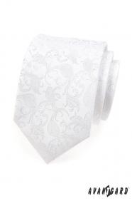 Festliche weiße Krawatte mit Muster