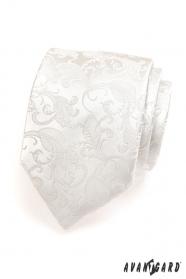 Krawatte Beige mit Muster