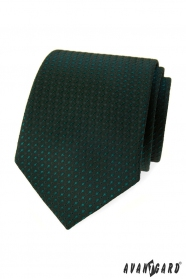 Dunkelgrüne Krawatte mit glänzendem Muster