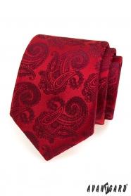 Rote Krawatte AVANTGARD Muster Paisley