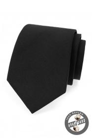 Schwarze Herren-Krawatte aus Baumwolle