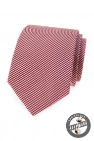 Baumwolle Krawatte mit Streifen in weinrot