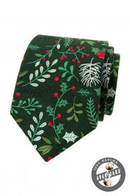 Grüne Weihnachtskrawatte