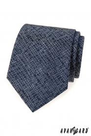 Dunkelblaue Krawatte mit modernem Muster