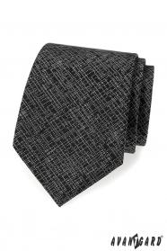Schwarze Herren Krawatte mit weißem Muster