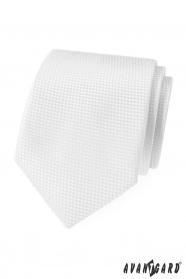 Weiße strukturierte Krawatte Avantgard Lux