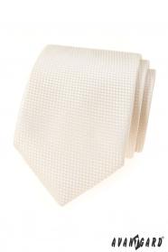 Cremig strukturierte Krawatte Avantgard Lux