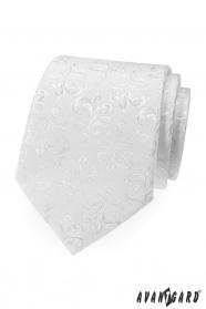 Weiße Krawatte mit glänzendem Muster