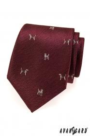 Bordeaux Krawatte Hund