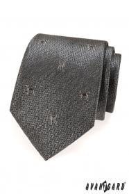 Graue Krawatte mit Hund
