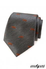 Graue Krawatte Orange Fuchs