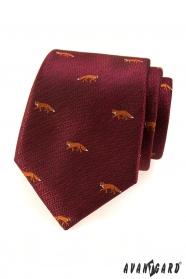 Bordo Krawatte - Fuchs